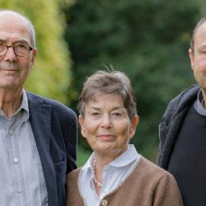 Früher Unternehmerfamilie, heute Stifter: die Geschwister Hans Schöpflin (links), Heidi Junghanss und Albert Schöpflin.