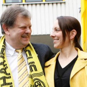 In der Sache geeint: Carl-August Heinz mit seiner Tochter und Nachfolgerin Carletta.