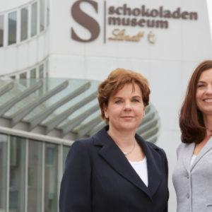 Arbeiten heute Seite an Seite: Annette (links) und Susanne Imhoff. Foto: Schokoladenmuseum Köln