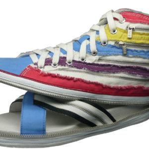 """Ein Schuh im Schuh. Mit dem Design der """"Zipper Shoes"""" hat das Label """"nat-2"""" von Sebastian Thies die Welt verändert, sagt das Design Museum in London."""