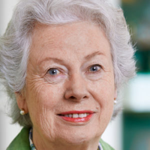 Eine Dame sieht Grün: Christiane Underberg, Frau von Emil Underberg, hält Underberg zusammen und in Ordnung.