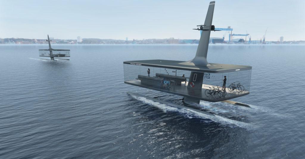 So könnte die Zukunft der Schifffahrt in Verbindung mit der Industrie 4.0 aussehen: Autonome Personenfähren in Form eines Katamarans.