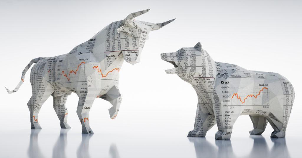 Bullenmarkt oder Bärenmarkt? Unabhängig von der Lage der Kurse müssen sich Familienunternehmer damit beschäftigen, wie Wertpapiere am besten an die nächste Generation übertragen werden.