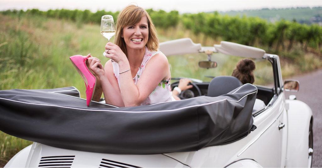 Yvonne Finkenauer wechselte von der Autobranche zum Weinbau.