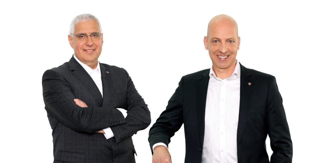 Dr. Karl Tragl (links) und Christoph Burkhard (rechts) stehen an der Spitze von Wacker Neuson.